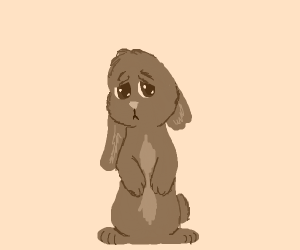The saddest bunny you can draw