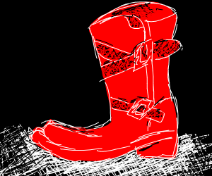 Red boot