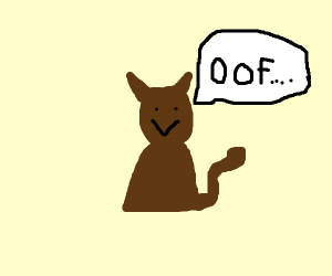 Dog says oof