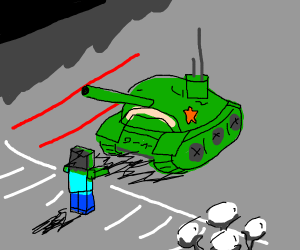 Minecraft Zombie in Tiananmen Square