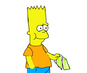 Bart eating pant