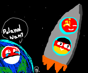 Poland cannot into space, unlike GER & Sov. U