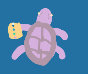 Thanos, but a sea turtle.