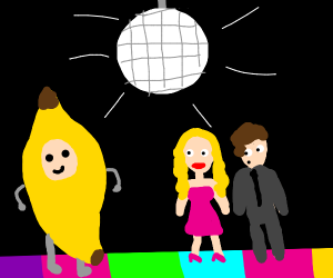Lady wears Banana Costume to the Prom