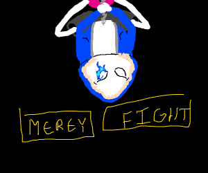 """""""spider sans"""" approaches you! (mercy/fight?)"""