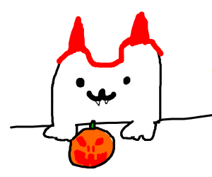 Bongo cat halloween edition