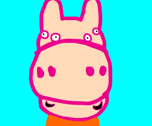 Front View Of Peppa Pig Drawception