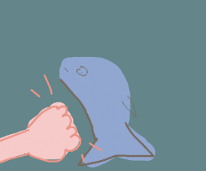 Brofisting a little shark