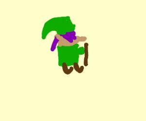 Link (Legend of Zelda) with purple hair