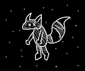 space racoon dies