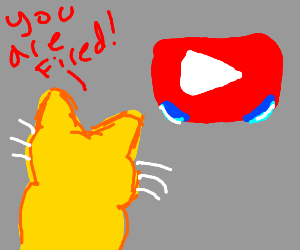 Yellow cat tells YouTube it's fired