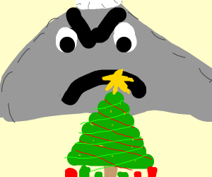 Mountain is mad at christmas