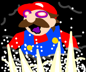 mario has discovered the eye of cthulu