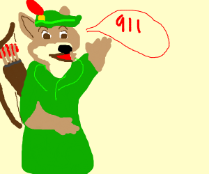 Fox Robin Hood yelling 911