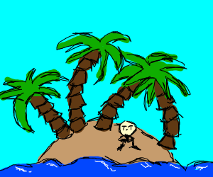 Alone with the palm trees T-T