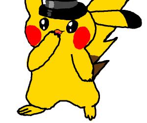 pikachu in a top hat