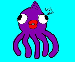 A pet octopus mix Goldfish
