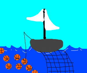 Fishing for a Basketball