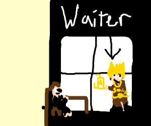 Antique Waiter