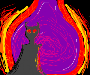 Demon coming out of a portal