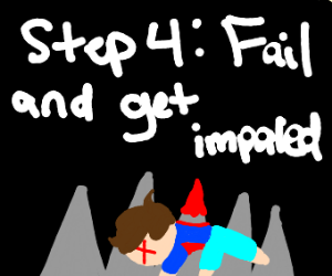 step 3: try to dodge the spikes