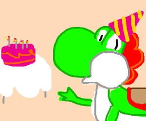 Yoshi throws a party