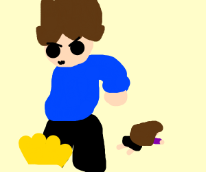 Eddsworld Tom stomps, woman falls over