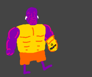watch out there's thanos- omg he has airpods