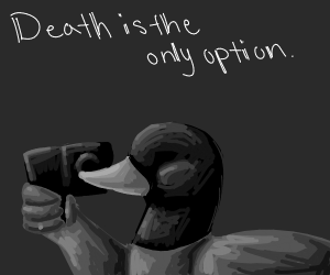 Duck wants to kill himself