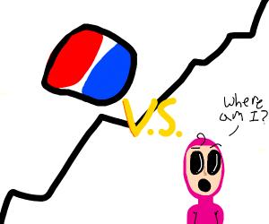 Pepsi Vs a man