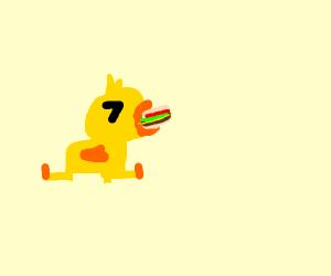 duck choking on cheeseborglar