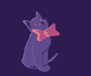 Cat with bowtie