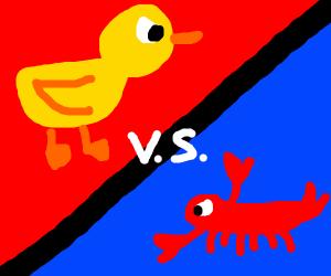 Duck vs Lobster