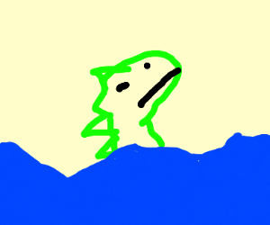 calm dino drowning