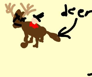 Stabbed deer