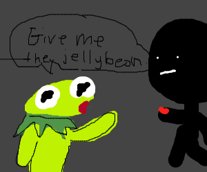 Kermit wants to take jelly beans