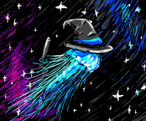 wizard jellyfish in space