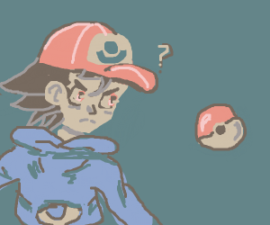 Ash is confused about a Pokéball