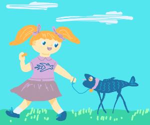 Walking your pet fish