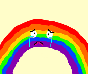 sad single rainbow :(