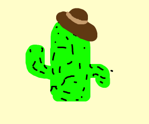 Cactus(?) with a hat