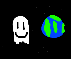 Cosmic ghost is friends with Earth