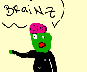 Zombie wants brains