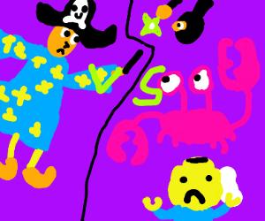 pirate wizard vs lego crab ninja