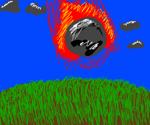 meteor hitting the earth