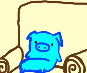 Blue chill pig