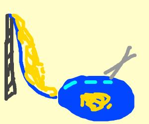 Noodle water slide