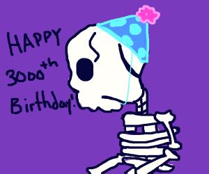Skeletons 3000th birthday