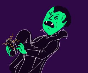 Dracula stubs his toe