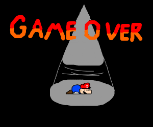 Game over/you lost the game